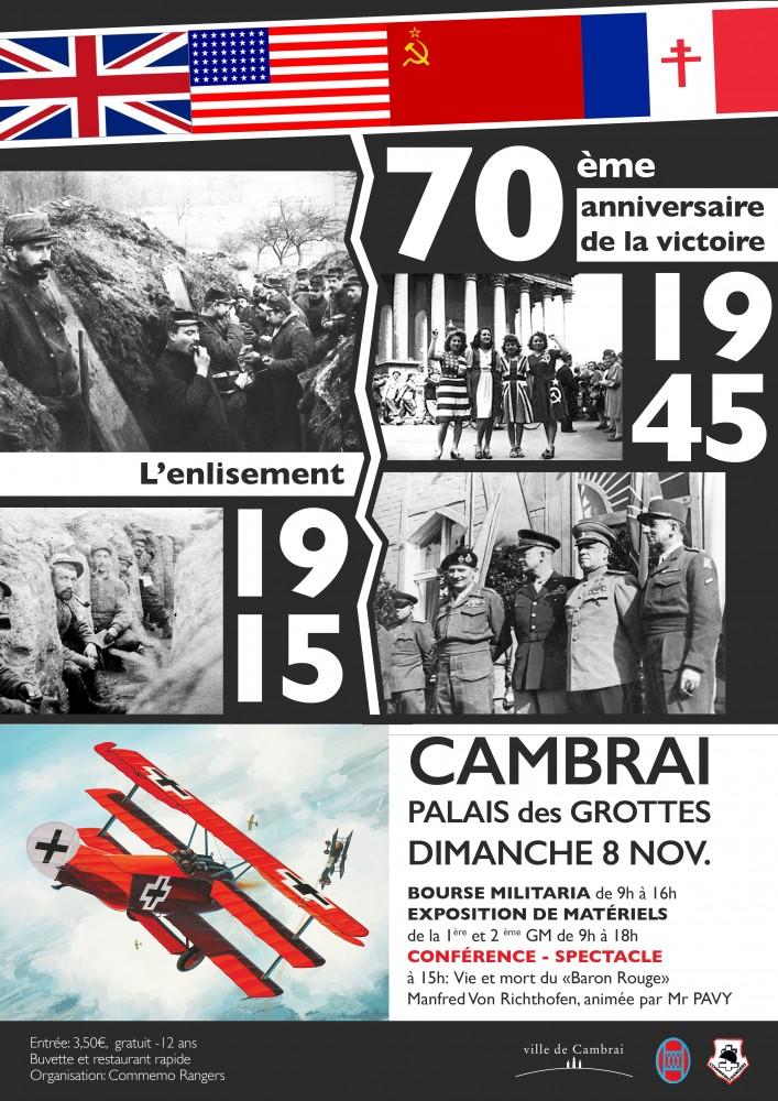 Affiche COMMEMO RANGERS 2015 Cambrai